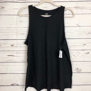 Old Navy Basic Tank Top Flowy Muscle Stretch Black
